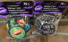Wilton Halloween Trick Or Treat & Goulie Cupcake Liners 75 Pk - Lot 8 600 Liners