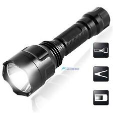 2200LM  CREE Q5 LED C8 Portable Flashlight 18650 Torch Lamp Light SE