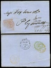 NEWSPAPER STAMP 1853 KEIGHLEY CO HULL GRAINS PRICE LIST...BRISTOL...PLYMOUTH