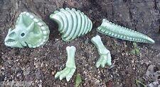 """plastic 5 piece  dinosaur mold casting concrete plaster mould 13"""" L total"""