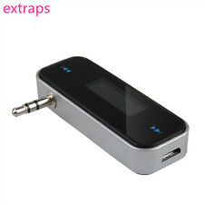 Wireless 3.5mm In-Car Handsfree LCD Audio Music FM Transmitter for Smartphone PS