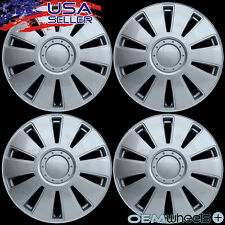 """4 NEW OEM SILVER 16"""" HUB CAPS FITS VOLKSWAGEN VW CAR ABS CENTER WHEEL COVERS SET"""