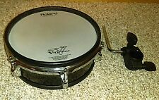 "Roland PD-105 V-Drum 10"" Mesh Head PD105 with mounting clamp."