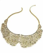 "NWT American Rag 16"" Gold-Tone Filigree Peter Pan Collar Statement Necklace NEW"