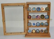 4 Shelves Military Challenge Coin or Antique Coin Display Case Holder Stand Rack