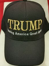 """DONALD TRUMP """"Making America Great Again"""" METALIC GOLD EMBROIDERED HAT **NEW**"""