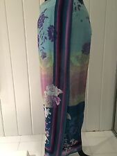 ETRO ITALY Silk Print Long Dress Skirt I 46 US 10