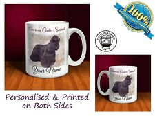 American Cocker Spaniel Personalised Ceramic Mug: Perfect Gift. (D048)