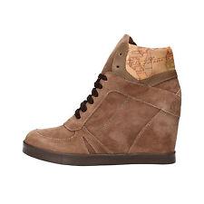 scarpe donna 1°CLASSE ALVIERO MARTINI 38 sneakers beige camoscio pelle AF284-D7