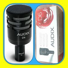 AUDIX D6 Dynamic Professional Microphone KICK DRUM BASS