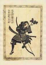 Japanese Reproduction Woodblock Print Set of 3 Life of a Samurai #3 by Kuniyoshi