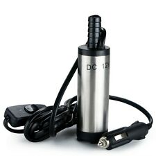 DC 12V Submersible Pump Water Oil Diesel Fuel Transfer Cigarette Plug Tool 38mm