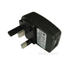3 Pin USB Mains Plug UK Charger For Powering Devices -  iPods iPhones Tablets