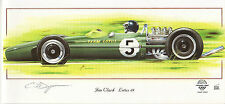 Lotus 49 Jim Clark Silverstone Cosworth Long Greeting Card Dugan race car art