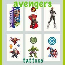 Avengers party bag fillers/favours/birthdays. Avengers temporary tattoos set x10