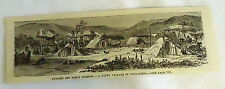 1882 magazine engraving ~ GYPSY VILLAGE IN WALLACHIA, Romania