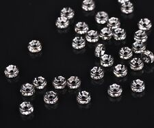 Wholesale Czech Crystal Rhinestone Rondelle Spacer Beads 4/5/6/8/10/12mm Bulk