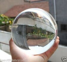 Asian Rare Natural Quartz Clear Magic Crystal Healing Ball Sphere 100mm + Stand`