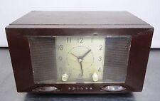 Bakelit Röhren Radio Philco Weckradio Röhrenradio Uhrenradio USA ~50er