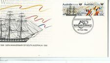 1986 150th Ann of Sth Australia Pair 33c stamps on Postmarked Bunbury 150 Cover