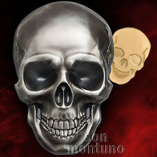 SKULL - 2016 Palau - 2 COIN SET - 1oz Silver (SOLD OUT) Half Gram 24k Gold $1 $5