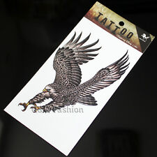 Men Flying Big Eagle Arm Leg Body Art Waterproof Sticker Temporary Tattoo