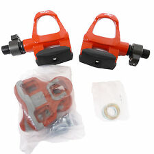 mr-ride Red Wellgo Road Bike Pedals Clipless with Cleat -QRD-R096B