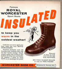 1956 Vintage Ad Royal Worcester Insulated Sport Boots Worcester,MA