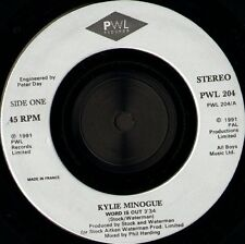 "KYLIE MINOGUE word is out 7"" WS EX/ pwl records PWL 204"