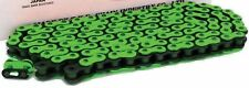 NEW HEAVY DUTY MOTORCYCLE CHAIN 520 120 LINK - FLUORO GREEN COLOUR - MOTORBIKE