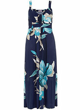 Praslin Blue Floral Maxi Dress Size 14