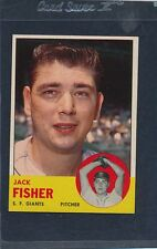 1963 Topps #474 Jack Fisher Giants NM 63T474-90516-2