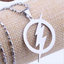 High Quality Fashion Stainless Steel Lightning Xia Superhero Pendant Necklace