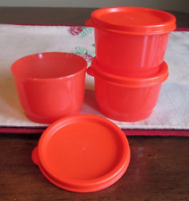 Tupperware Snack Cups 3pc Set for Lunch On the Go Baby Food & More Fire Red New