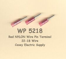 50 Red NYLON Insulated WIRE PIN Terminal Connectors #22-18 Wire Gauge AWG MOLEX