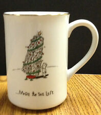 Merry Masterpieces More to the Left Leaning Tree Christmas Coffee Mug 1999