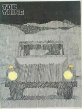 1973 Volkswagen Thing Brochure ws9568-DN7O96