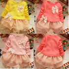 Kid Baby Girls Clothes Long Sleeve Pullover Knitted Top Lace Princess Tutu Dress