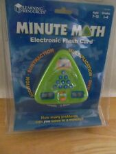 Learning Resources Minute Math Electronic Flash Card Ages 7-10 Grades 1-4