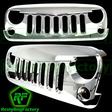 07-16 Jeep JK Wrangler Triple Chrome Angry Bird Replacement Grille Shell Rubicon