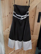"New Stunning Black & White Evening / Party Dress Size 8 Chest 32"" Bustier Dress"