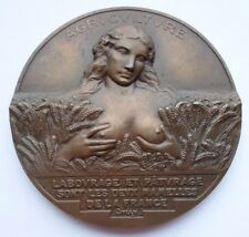 RARE FRENCH AGRICULTURE ART MEDAL by MAURICE THENOT