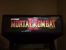 Mortal Kombat 2 Arcade Marquee Midway MK2 MKII Translight Header Sign Backlit