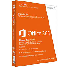 Office 365 / 5PC / MAC/Tablet/Android Suscripción 1 Año Multilenguaje 1TB