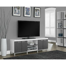 TV Entertainment Center Modern White Unit Stand Furniture Wood Cabinet Console