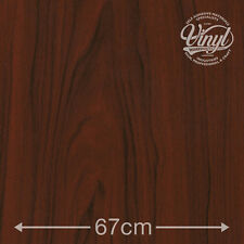 67cm Mahogany Wood Sticky Vinyl Fablon (200-8053) from 1 to 15 metres