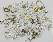 50g approx 150pcs Mixed Silver/Gold Anima Charms Pendant For Jewelry Making Free