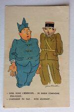 CPSM. Illustrateur Jean CHEVAL. Adjudant. Réserviste. Humour. Militaire.