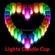 Flameless 7 Colour-Changing Votive Candle LED Lights Cup Lamps Indoor Outdoor