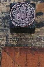Medaille EXPOSITION NATIONALE 1895 Galvano Druckstock Drucken Kupferdruckstock